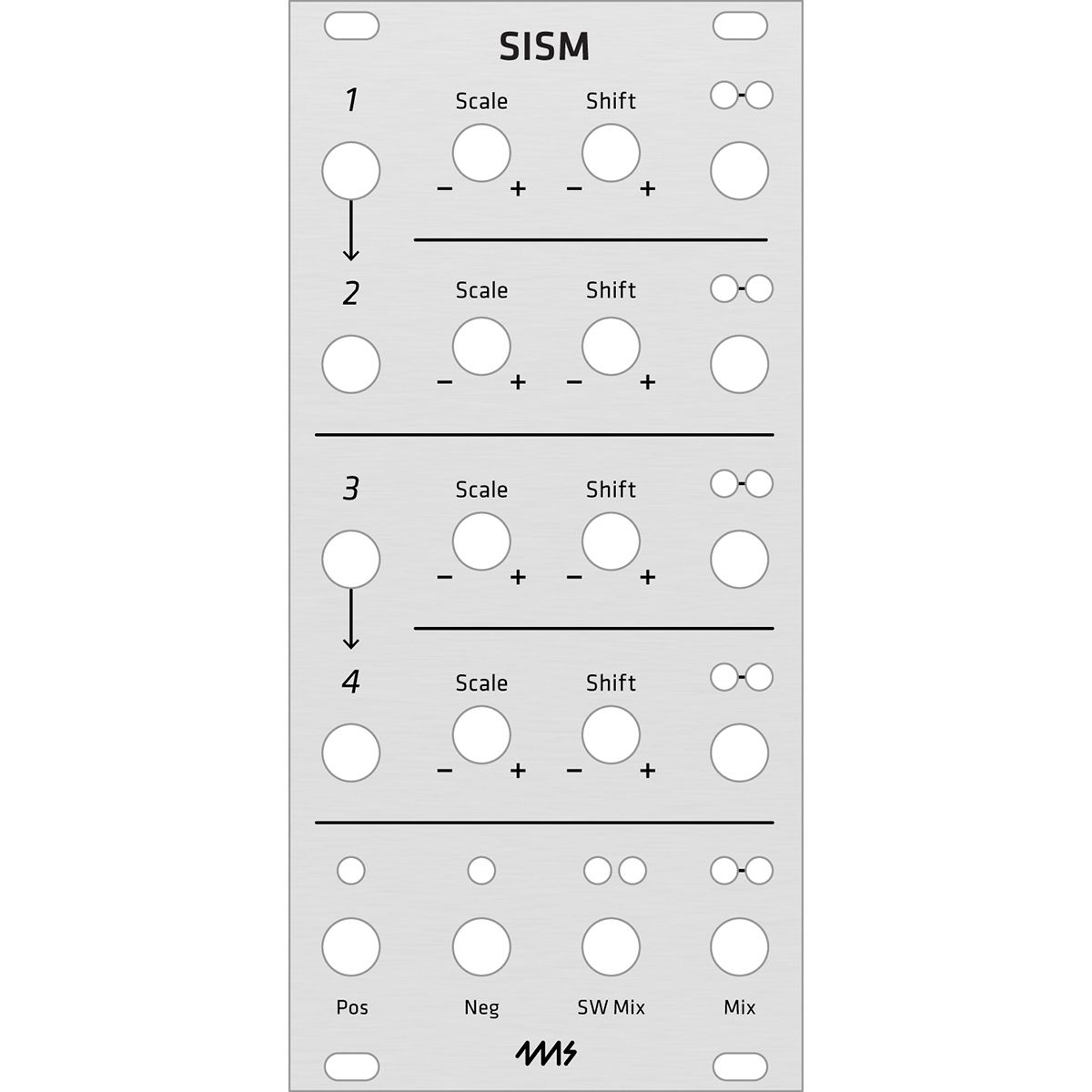 Grayscale Replacement Panel - 4ms SISM (Aluminium)
