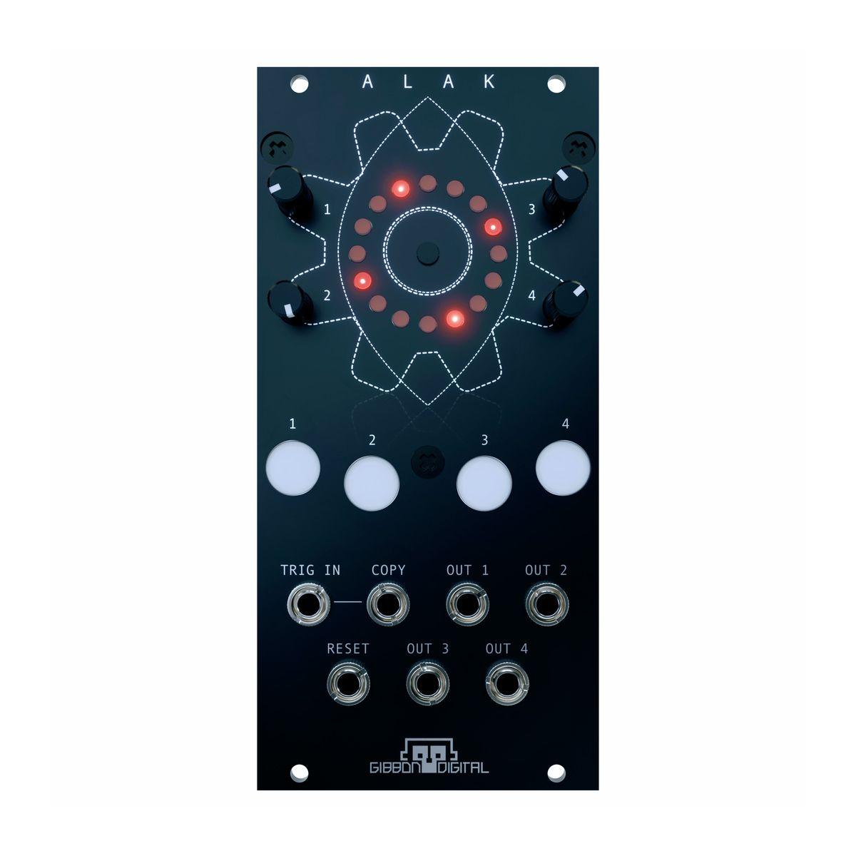 Gibbon Digital ALAK Eurorack Trigger Sequencer Module