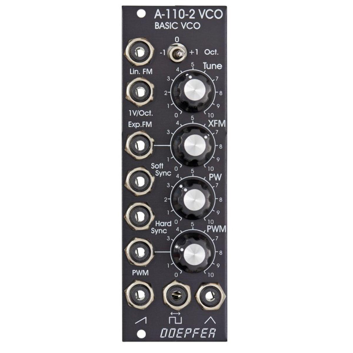 Doepfer A-110-2-V Eurorack Basic VCO Module (Vintage Black)