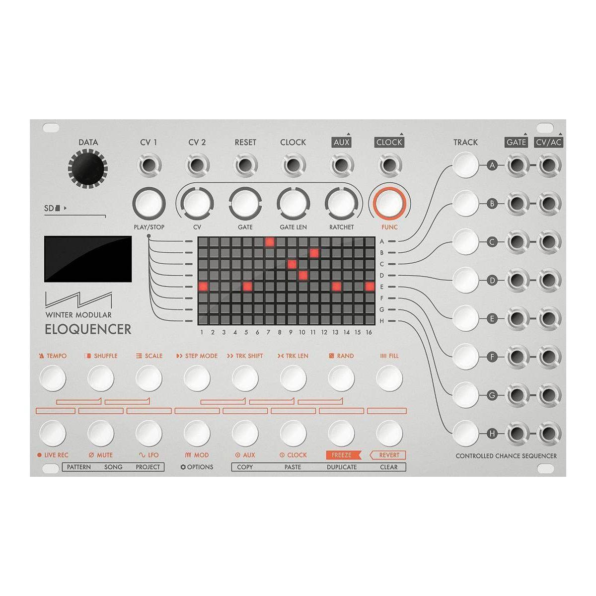 Winter Modular Eloquencer Eurorack Sequencer Module (Silver)