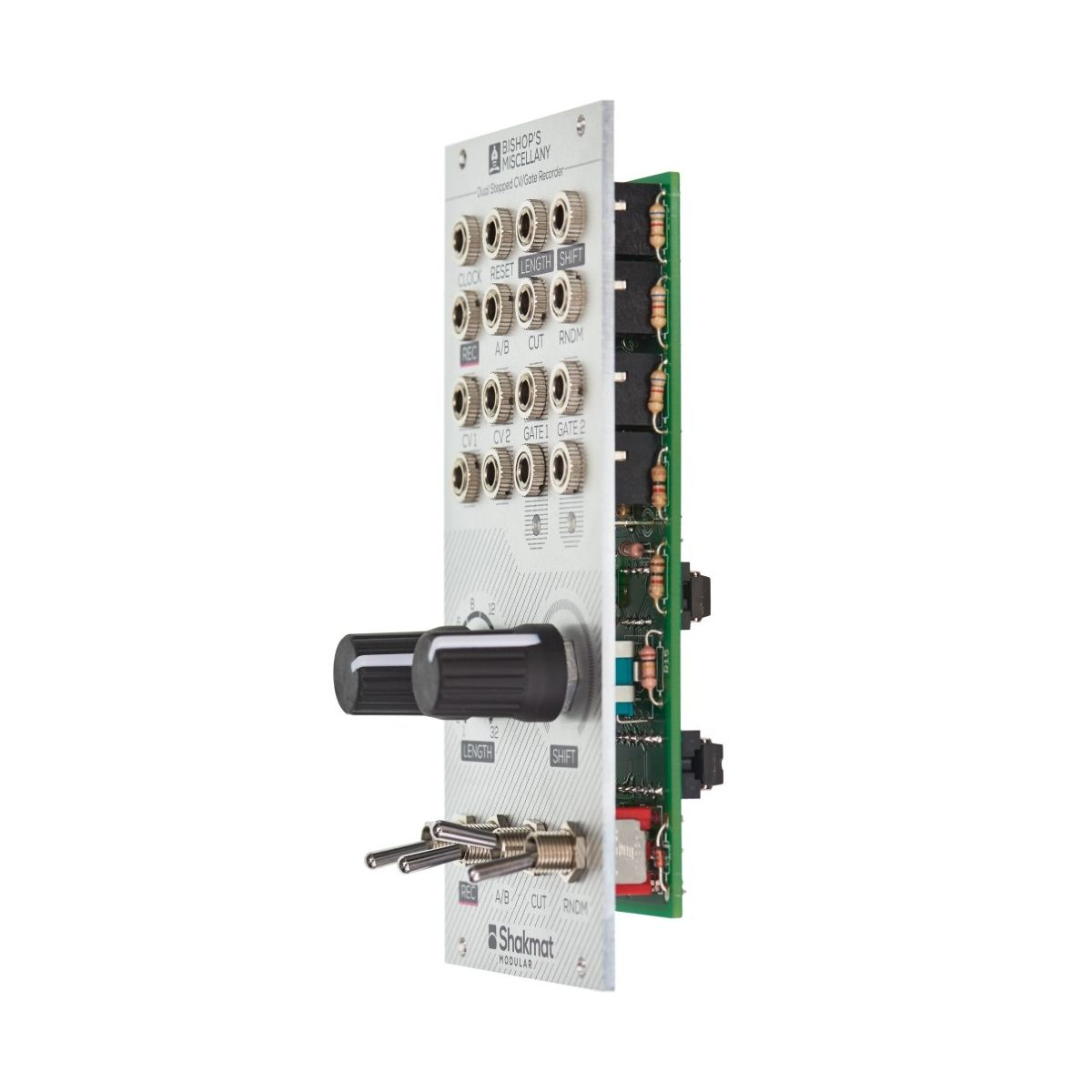 Shakmat Modular Bishop's Miscellany Eurorack Dual CV/Gate Recorder Module