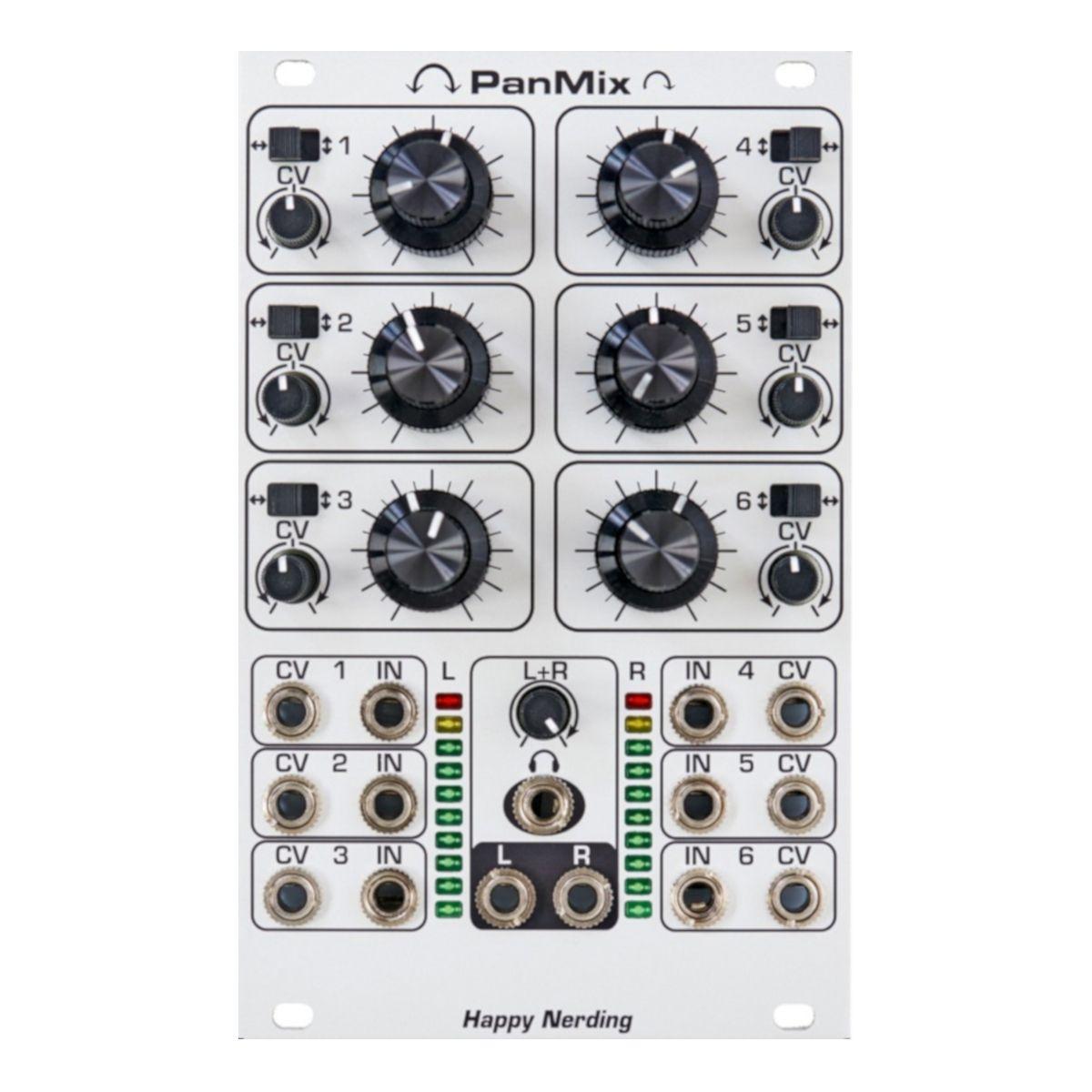 Happy Nerding PanMix Eurorack Stereo Audio Mixer Module (SIlver)