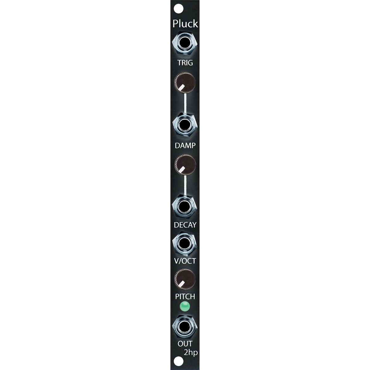 2hp Pluck Eurorack Karplus-Strong Oscillator Module (Black)