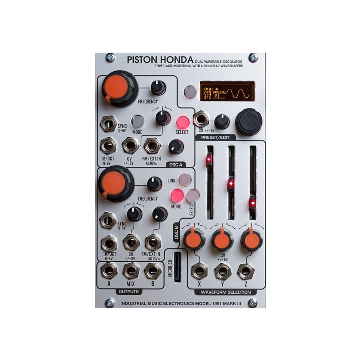 Industrial Music Electronics Piston Honda MK3 Eurorack Wavetable Oscillator Module