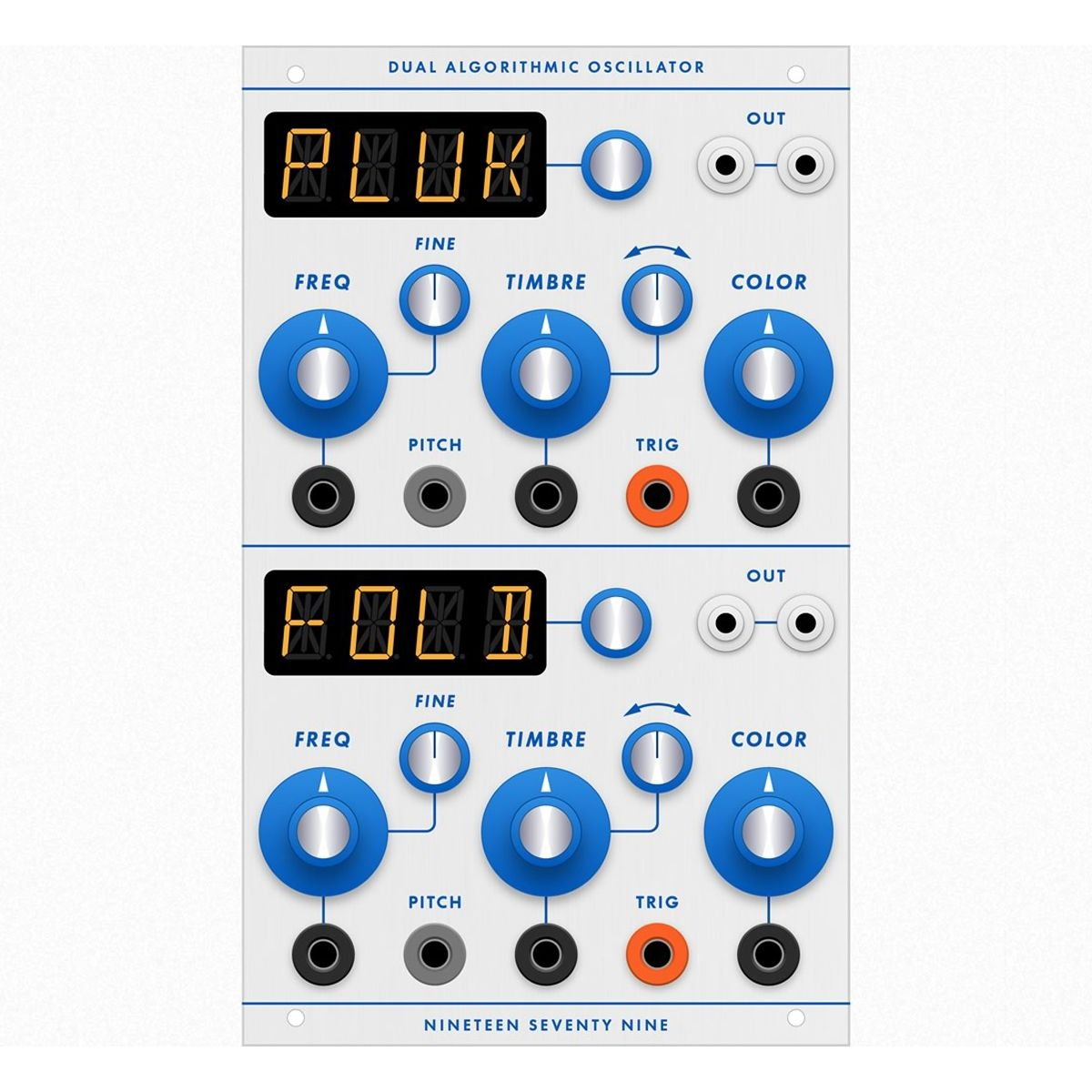 1979 DAO Buchla Format Dual Algorthmic Oscillator Module (Braids)