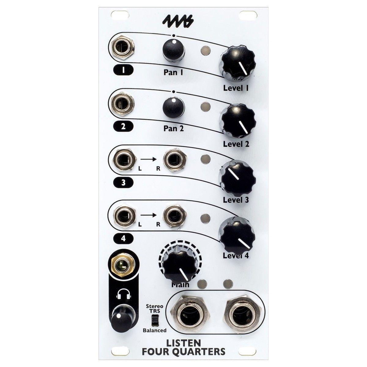 4ms Listen 4 Quarters Eurorack Audio Interface Module