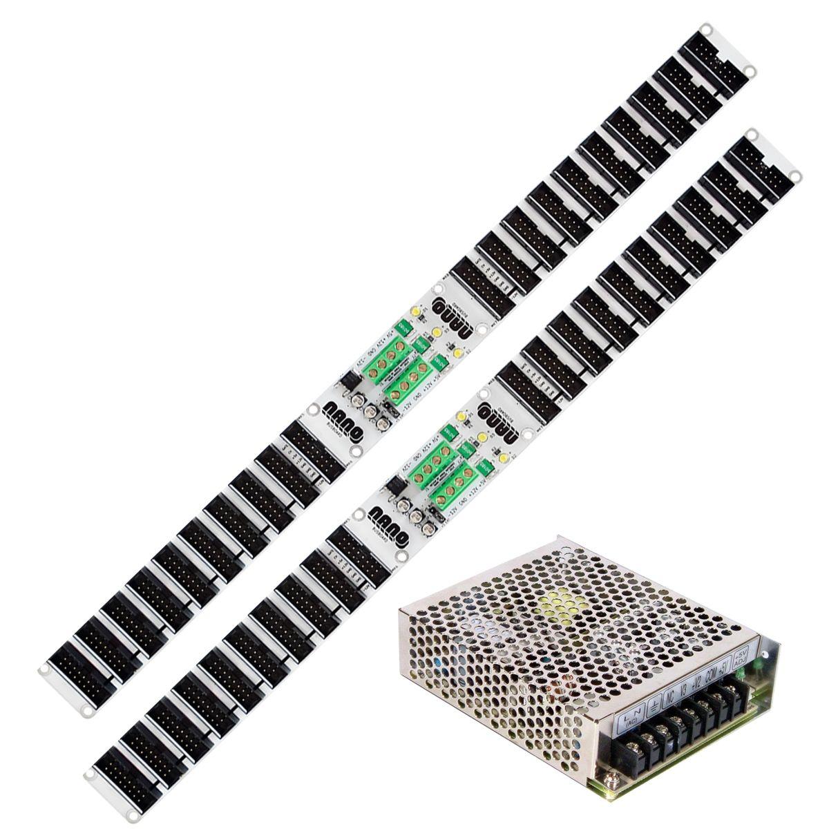 Nano Modules Eurorack Power Supply & 2 x Bus Board (DIY)