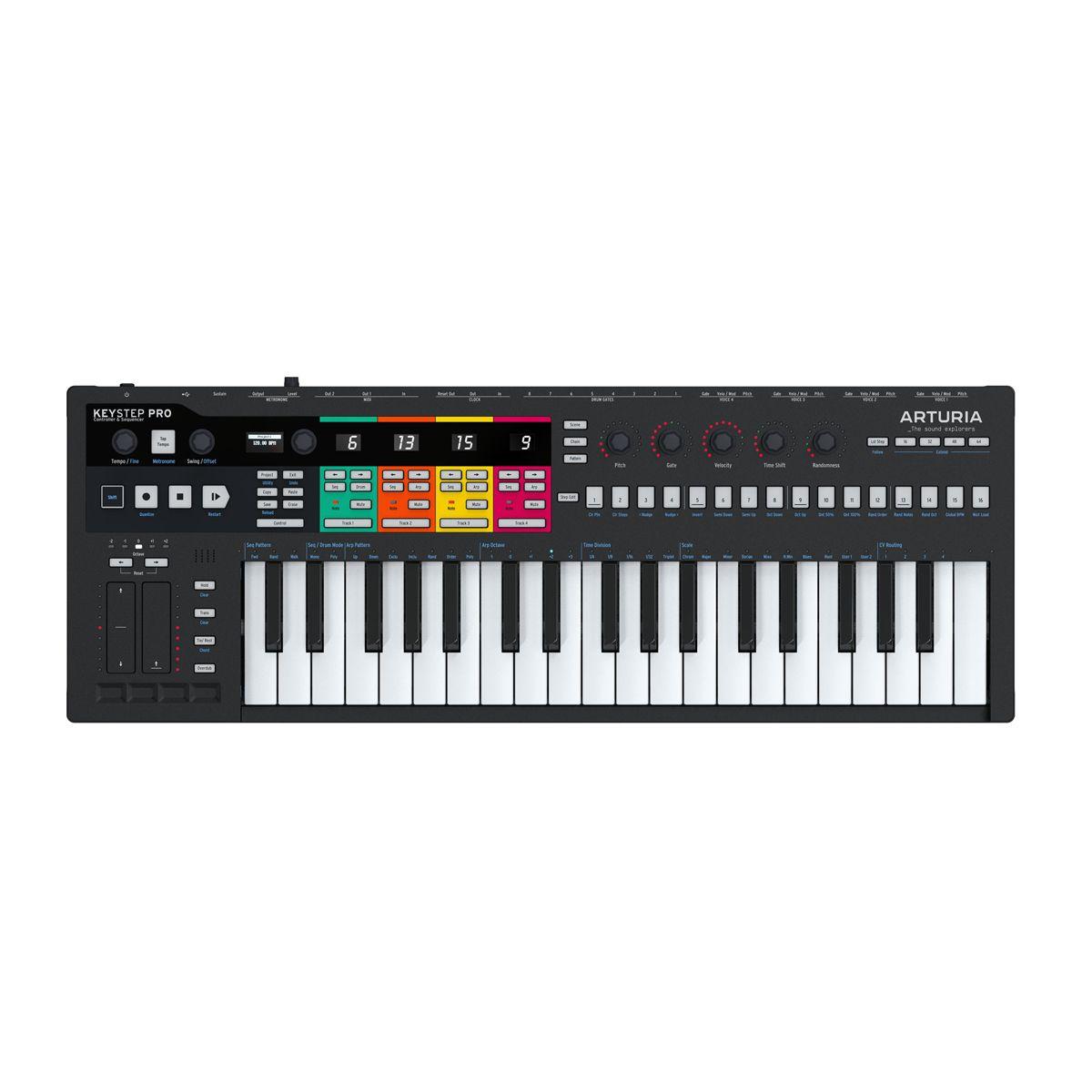 Arturia Keystep Pro USB MIDI Controller w/ CV/Gate (Black)