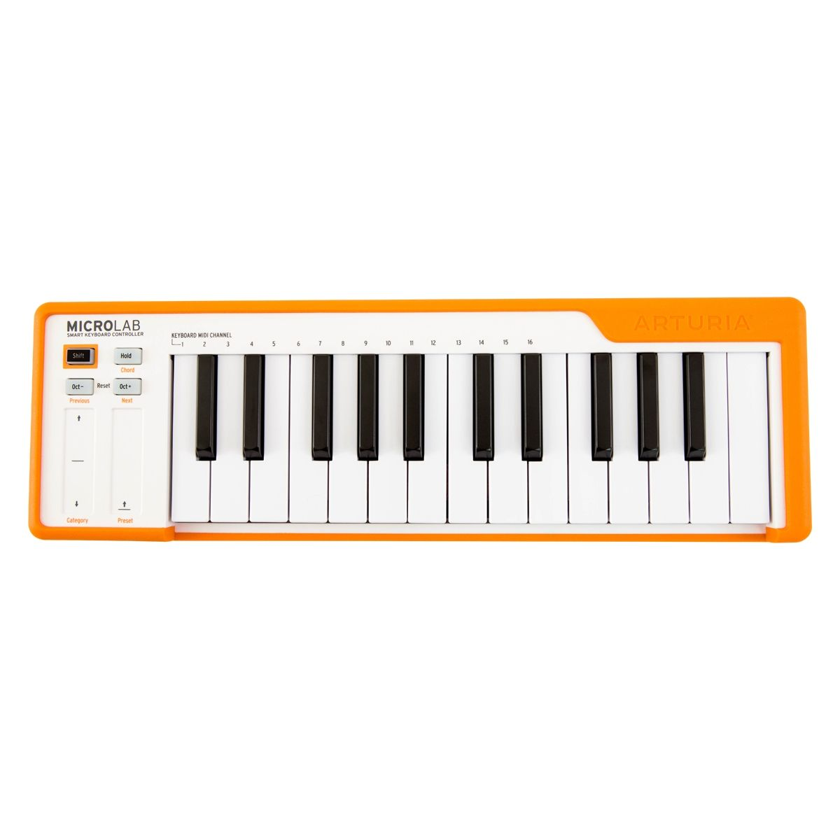Arturia MicroLab Compact USB MIDI Controller (Orange)