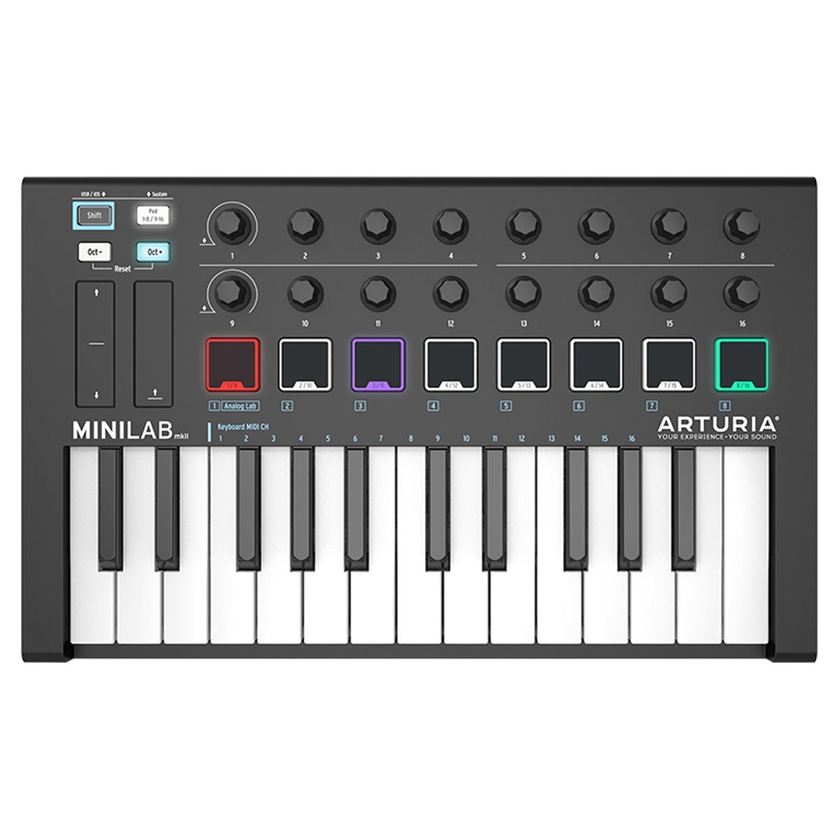 Arturia MiniLab MKII USB MIDI Controller (Black)