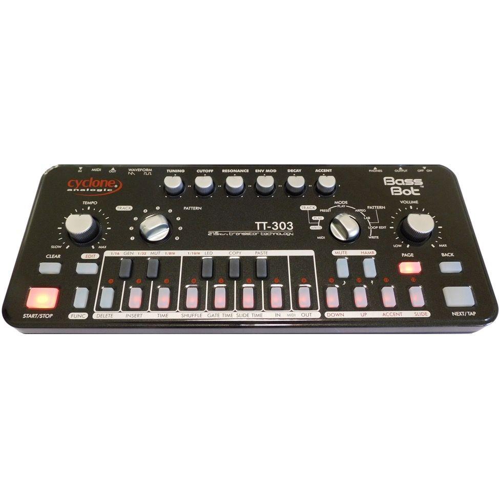 Cyclone Analogic TT-303 Bass Bot Acid Synth & Sequencer (Black)