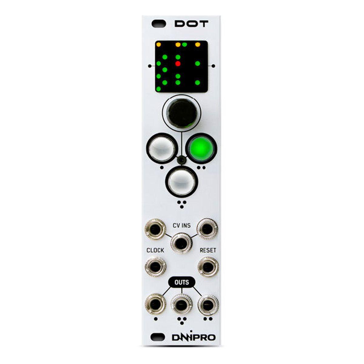 Dnipro Modular DOT Eurorack 3 Channel Pattern Generator Module (Silver)