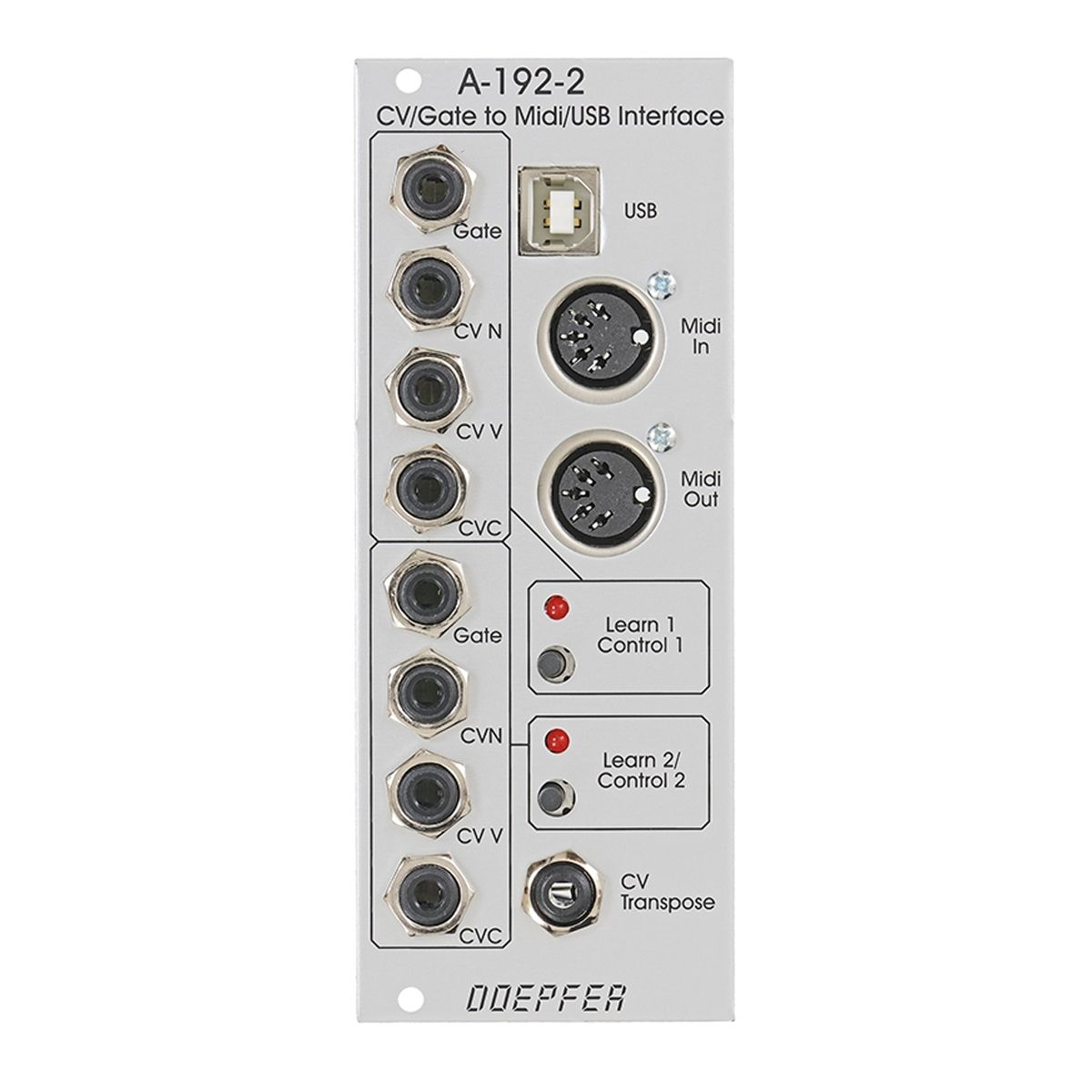 Doepfer A-192-2 Eurorack Dual CV/Gate to Midi/USB Interface Module
