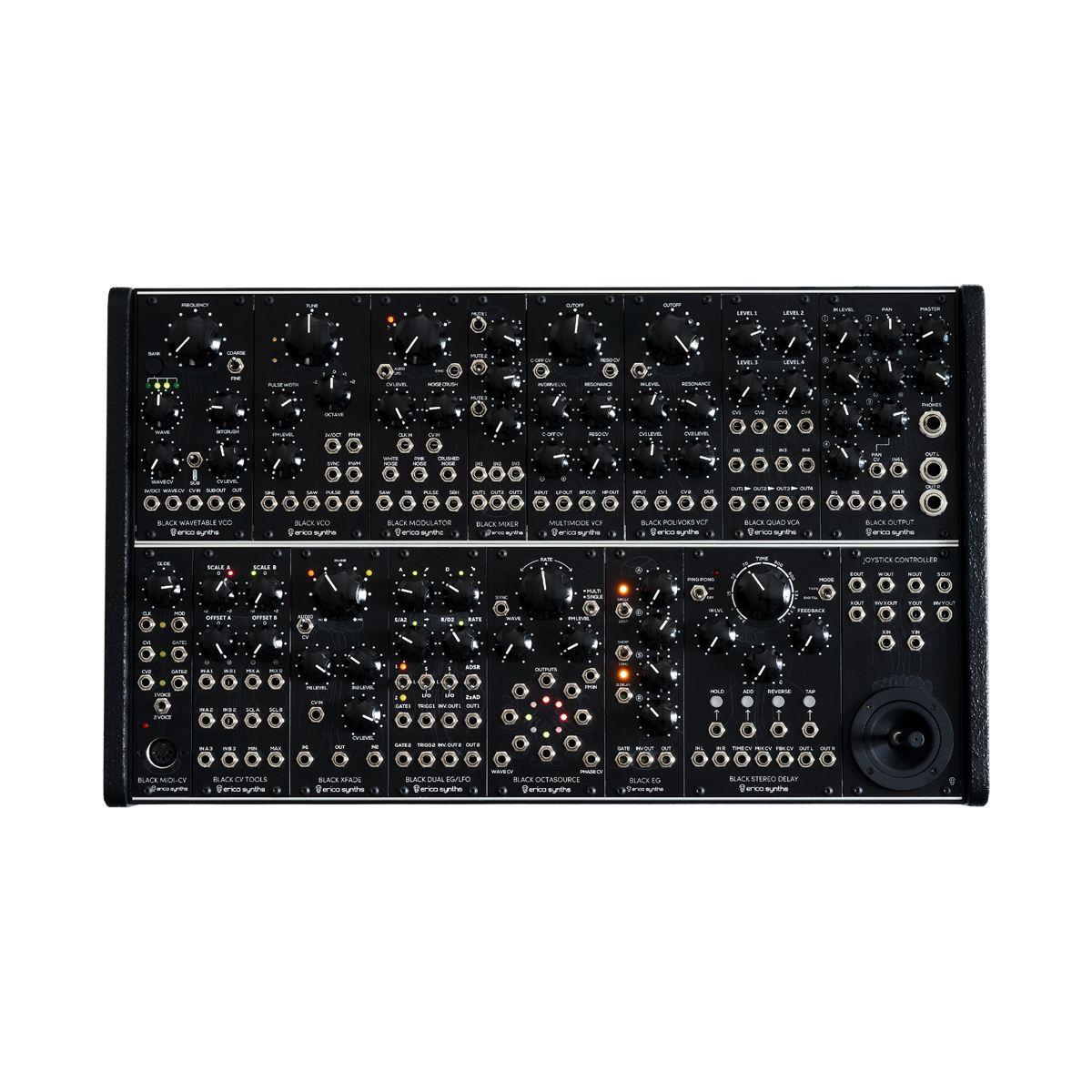 Erica Synths Black System II Eurorack Modular Synth Instrument
