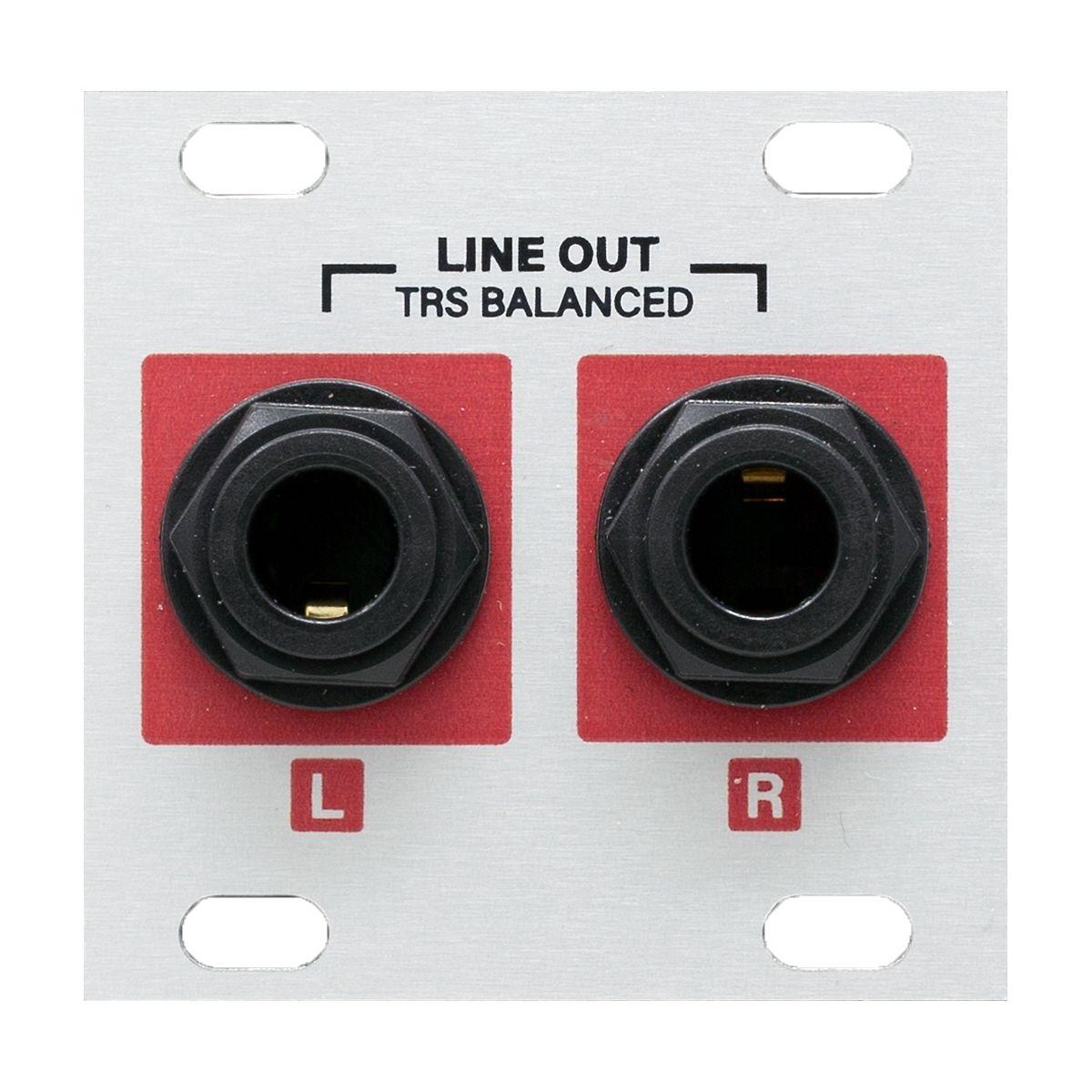 Intellijel Stereo Line Out Jacks Eurorack 1U Expander Module