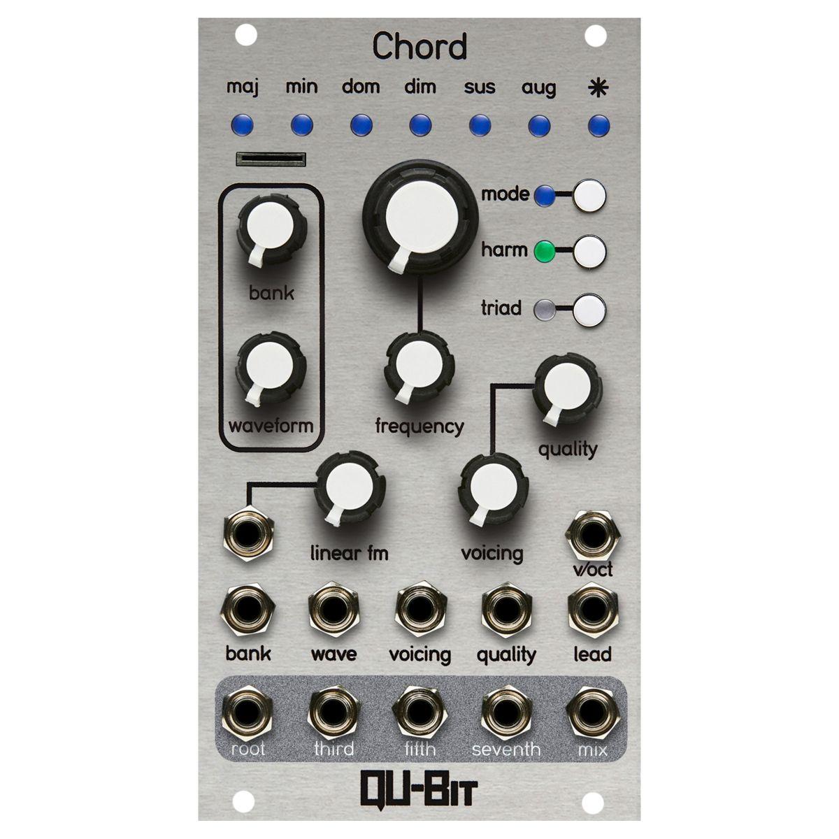 Qu-Bit Electronix Chord V2 Eurorack Multi-Oscillator Module (Silver)