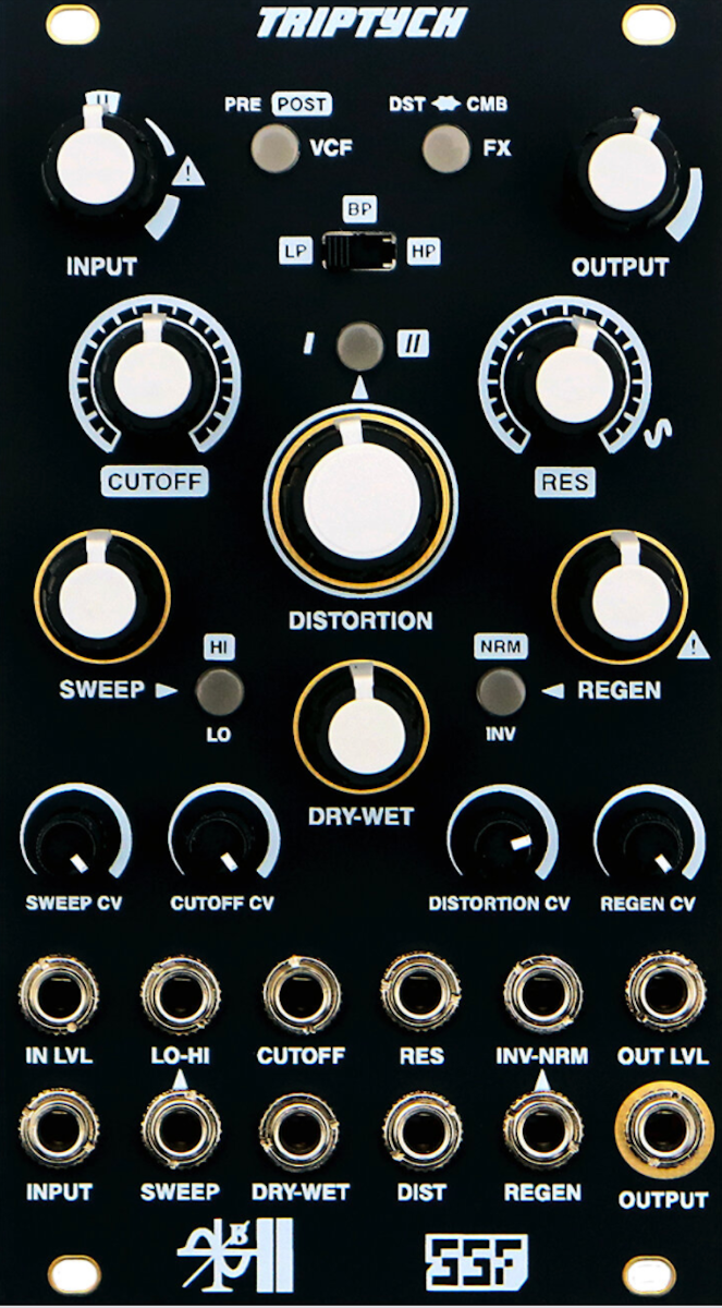 Steady State Fate Triptych Eurorack Filter Flanger & Distortion Module
