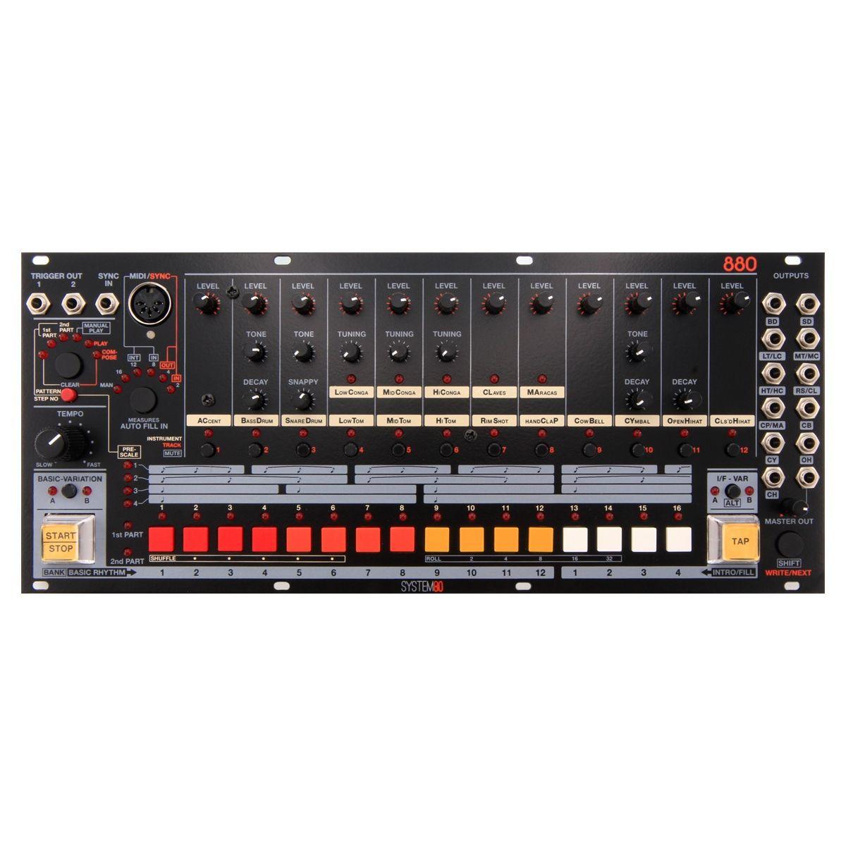 System80 880 Eurorack Drum Machine Module