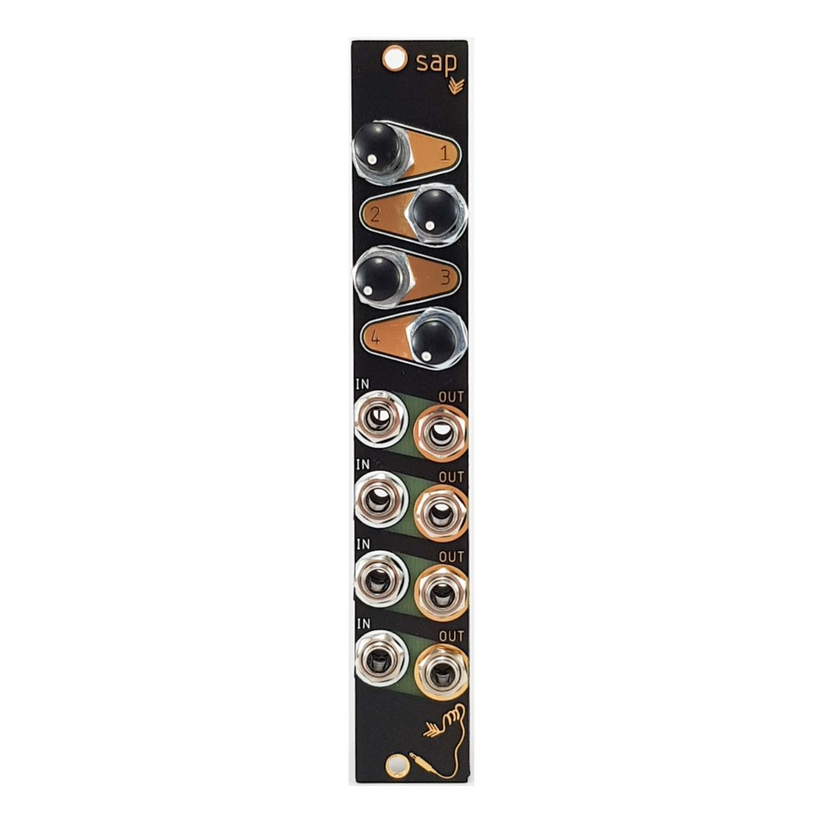 Tenderfoot Sap 4-Channel Passive Attenuator Eurorack Module