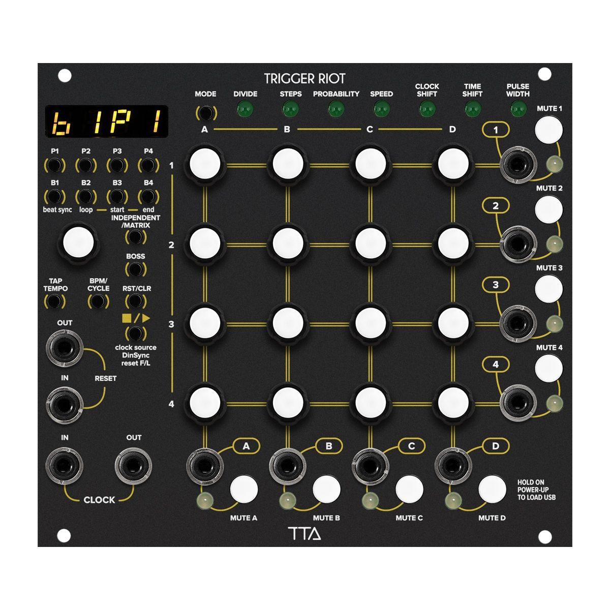 TipTop Audio Trigger Riot Eurorack Sequencer Module (Black)