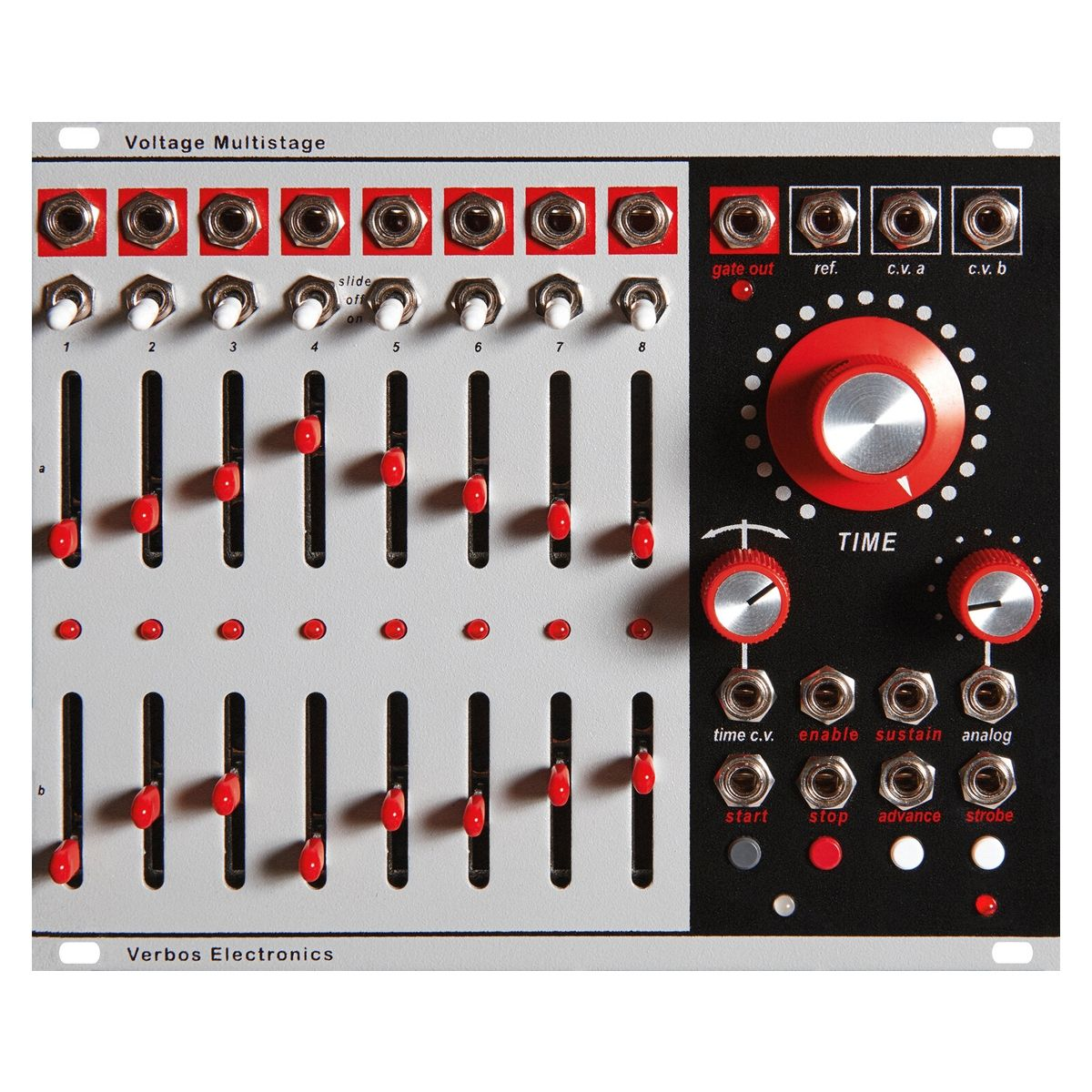 Verbos Electronics Voltage Multistage Eurorack Sequencer Module