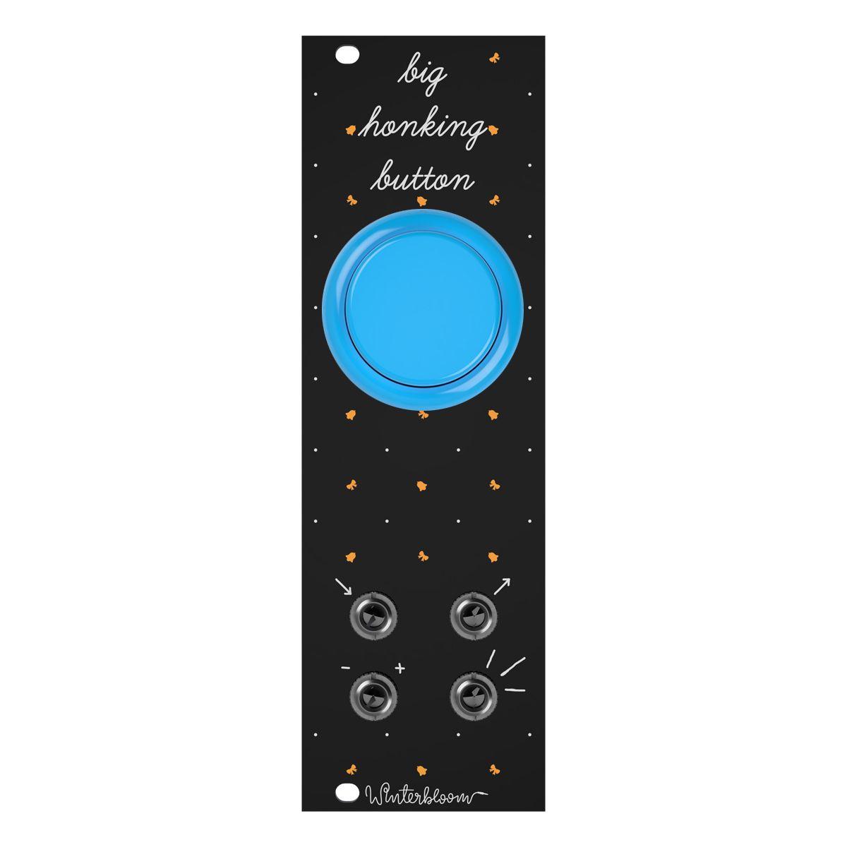 Winterbloom Big Honking Button Eurorack Sample Trigger Module (Black/Blue)
