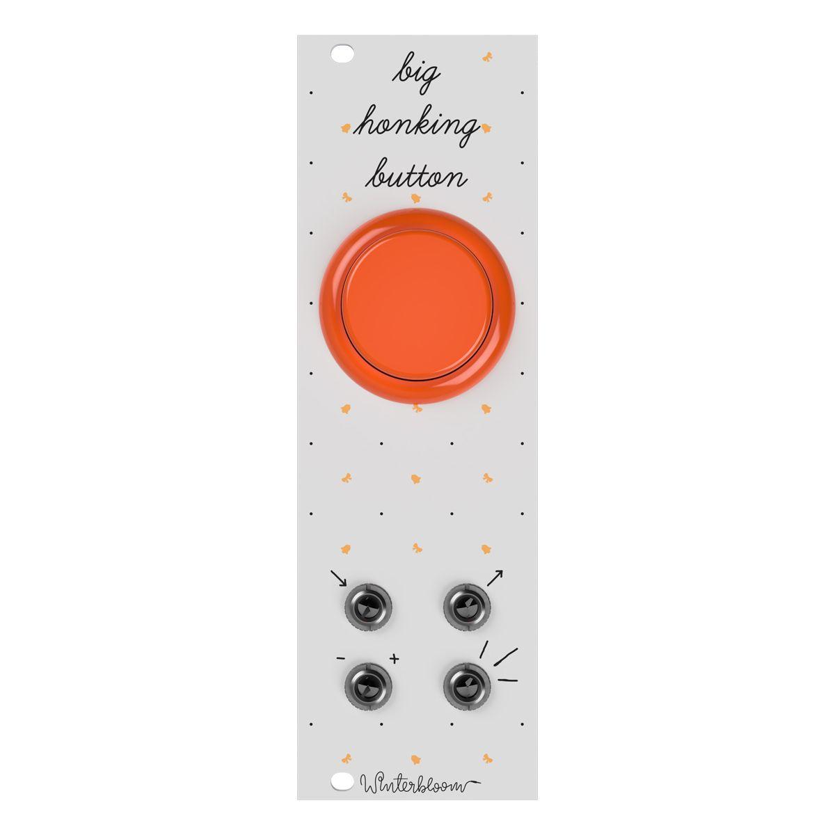 Winterbloom Big Honking Button Eurorack Sample Trigger Module (White/Orange)